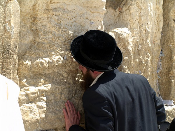 Orthodox Jewish man-praying-Western (Wailing) Wall