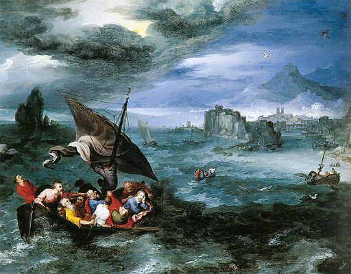 Christ in the Storm on the Sea of Galilee-Pieter Brueghel