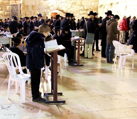 Western Wall prayer-Kotel-Men's section