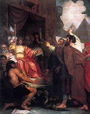 Moses and Aaron before Pharaoh-Benjamin West
