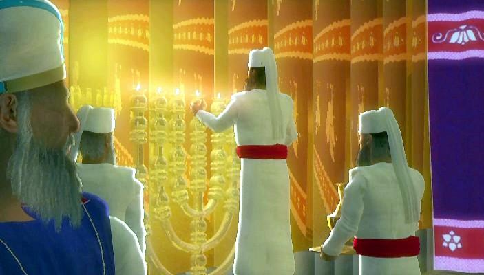 illustration-priests-ministering-Temple-Menorah