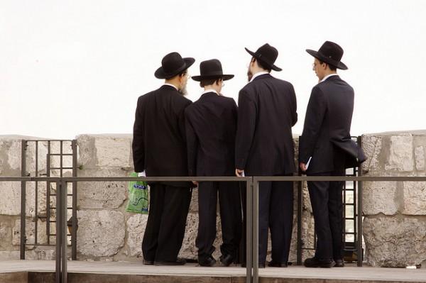 Ultra-orthodox Jewish-Old City of Jerusalem-David's Tower
