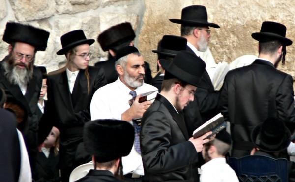 Jewish Prayer-Western (Wailing) Wall-Ancient Retaining Wall-Temple Mount -Jerusalem