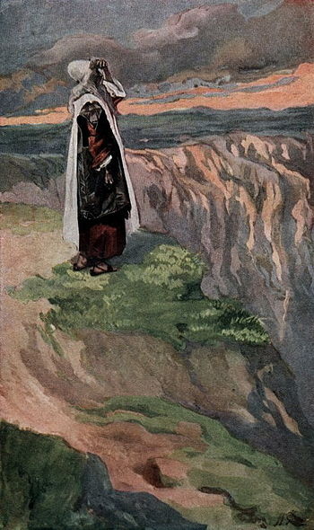 Moses Sees the Promised Land From Afar-James Tissot