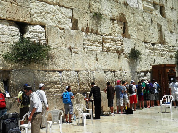Western Wall-men's section-prayer