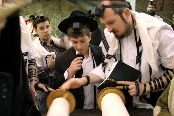 reading-Torah-Bar Mitzvah-tefillin-phylacteries