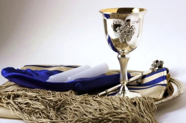 Shabbat Judaica-kippah-yarmulke-yad-tallit-kiddish cup