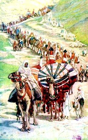 The Caravan of Abraham-James Tissot
