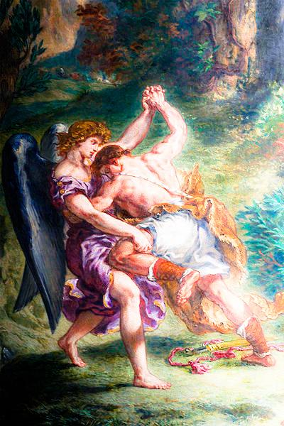 Jacob Wrestling with the Angel-Eugène Delacroix