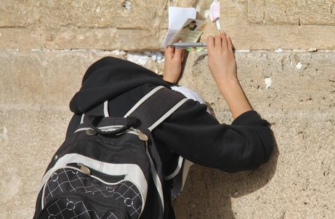 Jewish Boy-Praying-Western Wall