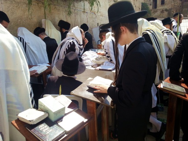 Sukkot-Western Wall praying davening