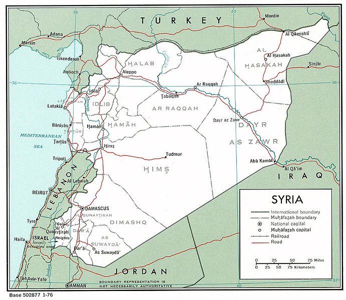 Lebanon-Israel-Syria-Iran proxies-map