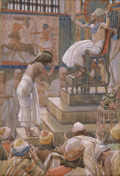 Joseph and His Brothers Welcomed by Pharaoh-James Tissot