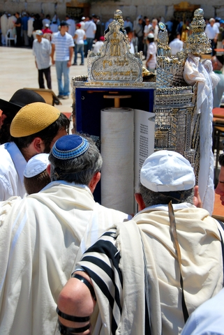 Reading-Torah-Wailing Wall
