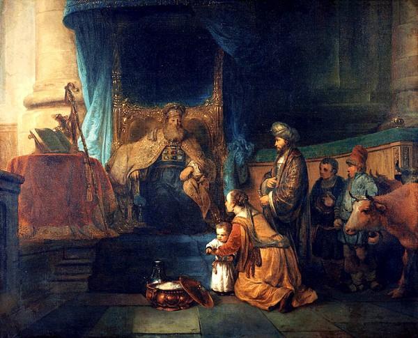 Hannah Presenting Her Son Samuel to the Priest Eli-Gerbrand van den Eeckhout