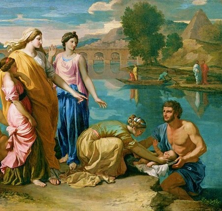 Moses Rescued from the Nile River-Nicolas Poussin
