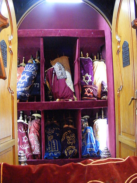 Toras-Istanbul-Ashkenazi Sinagogue-colorful mantles