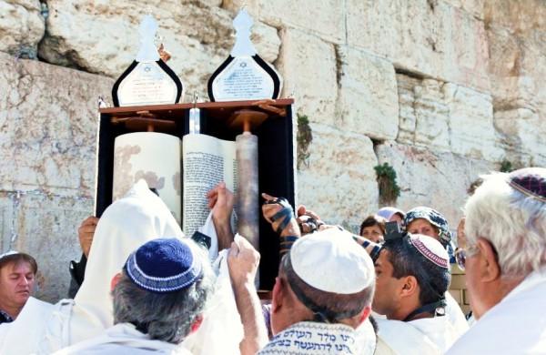 Torah-Western Wall-tallits-Torah procession