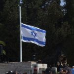 Half Staff-Israel flag