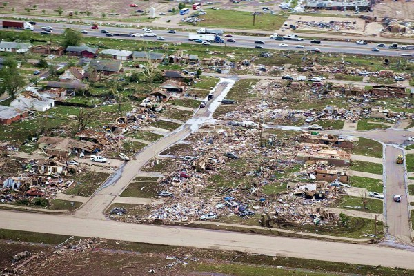 Tornado- Moore-Oklahoma-Aerial View-Homeless
