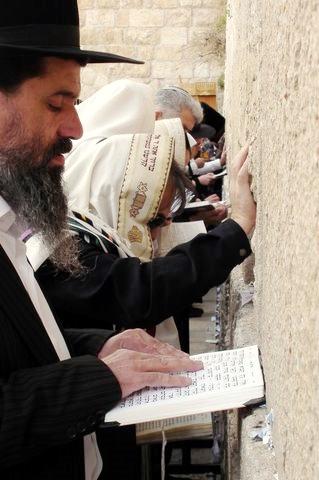 Jewish men-prayer-Western (Wailing) Wall-Jerusalem