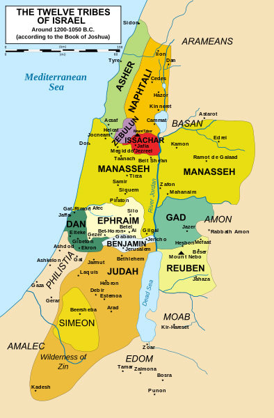 Map of Tribal-Land Distributions-Israel