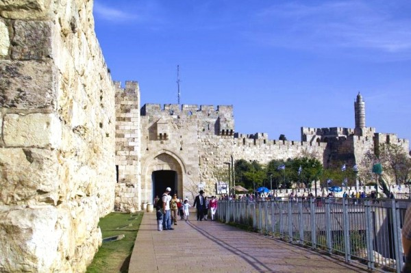 Jerusalem-Wall-Jaffa-Gate-Tower-David