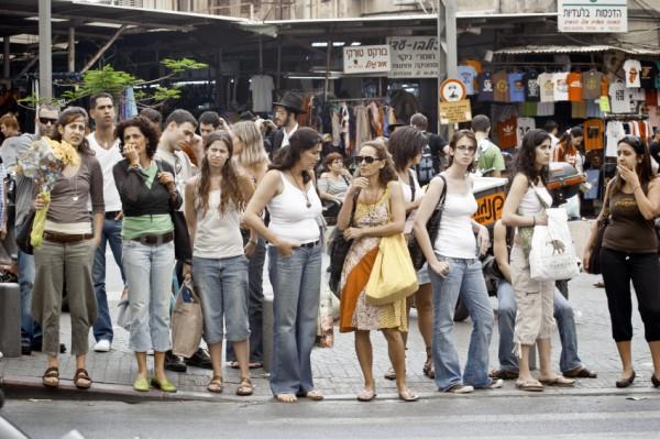 Israeli Women-Cross-Street-Tel Aviv