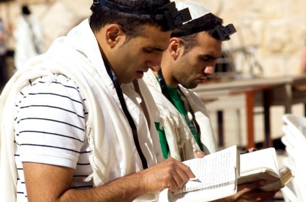 Jewish men-siddurs-Jewish prayer books-Western (Wailing) Wall