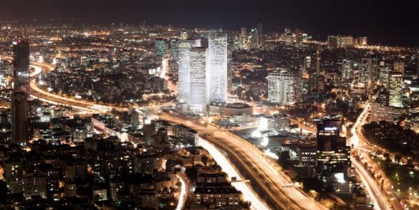 Aerial-streets-Tel Aviv-Israel