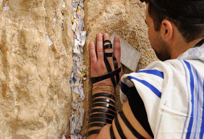 Reciting prayers-Western (Wailing) Wall