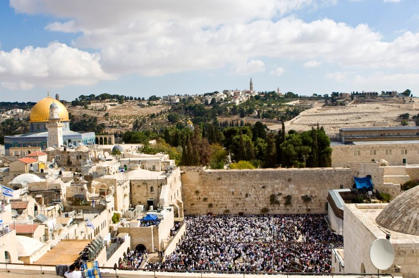 The Western (Wailing) Wall, which is a remnant of the wall that once surrounded the Holy Temple's courtyard, has been a site of Jewish pilgrimage and prayer for 1600 years or more.