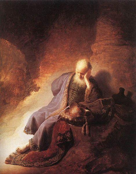 Jeremiah-lamenting-Rembrandt van Rijn