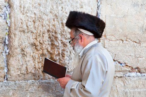 Jewish Man-Streimel-Western Wall