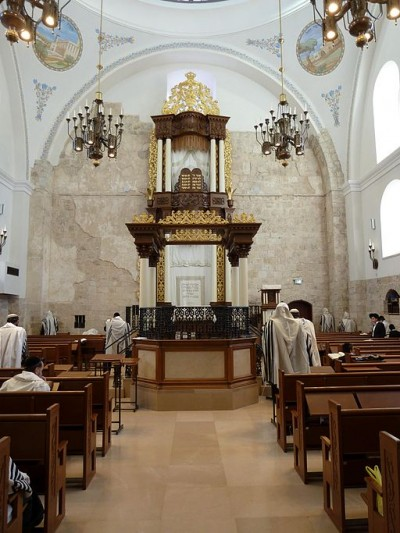Morning prayer-Hurva Synagogue-Old City-Jerusalem
