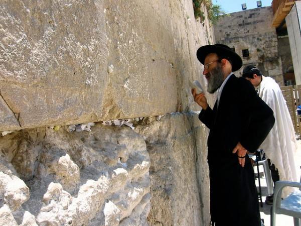 Ultra-Orthodox Jew-praying-Western Wall