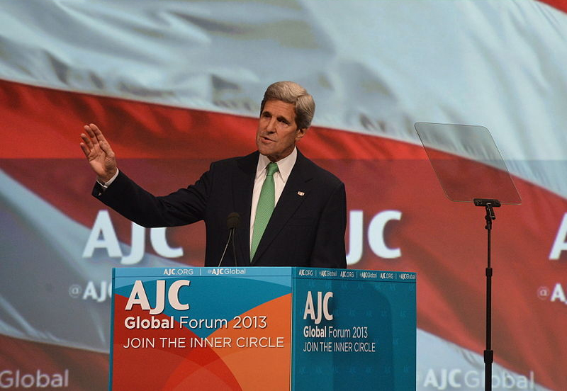 U.S. Secretary of State John Kerry speaking at the AJC