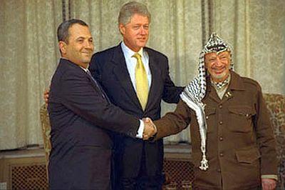 Ehud Barak-Bill Clinton-Yasser Arafat