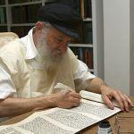 A Jewish scribe-Torah scroll