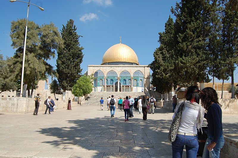 Temple Mount-Tourists-Muslim Dome of the Rock-AD 691