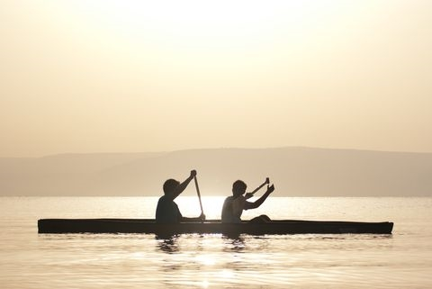 sunrise-canoe-Sea of Galilee