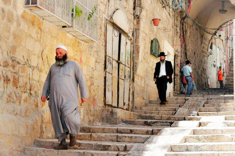 Muslim-Jew-Jerusalem