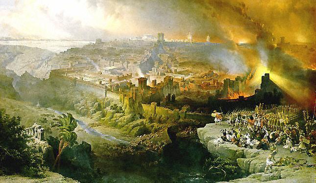 The Siege and Destruction of Jerusalem-David Roberts