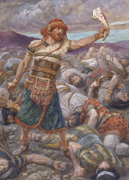 Samson Slays a Thousand Men-James Tissot