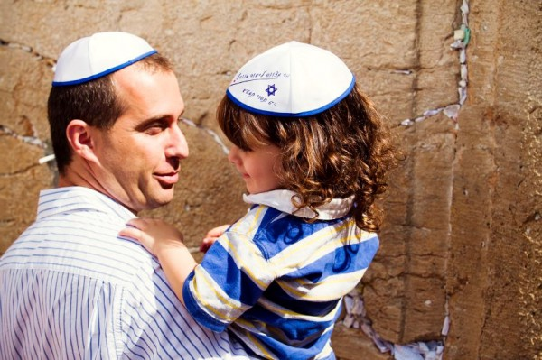 Father-Son-Kotel Wall