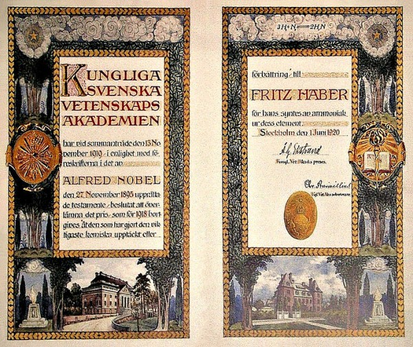 Nobel Prize Diploma-Fritz Haber