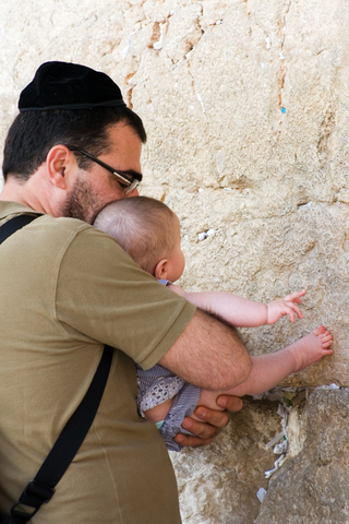Jewish father-infant-Kotel