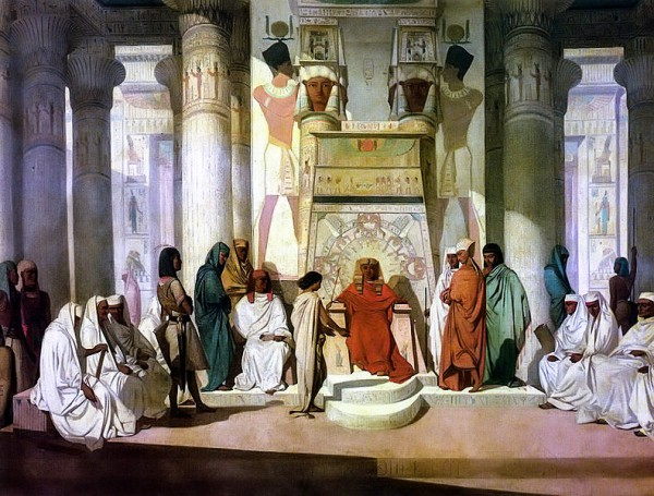 Joseph Explaining Pharaoh's Dream-Jean Adrien Guignet