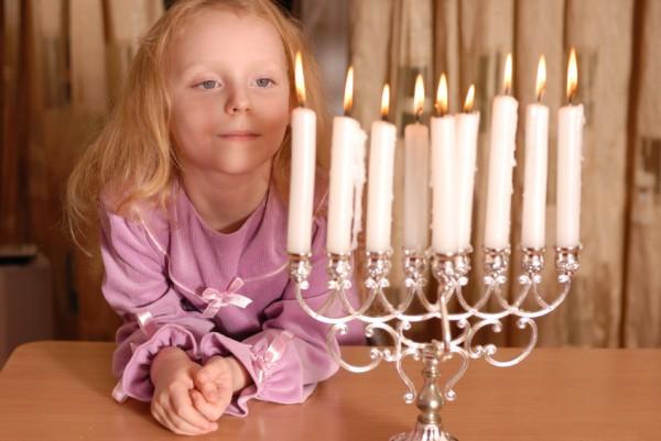 Young Israeli-Hanukkah menorah-Hanukkah