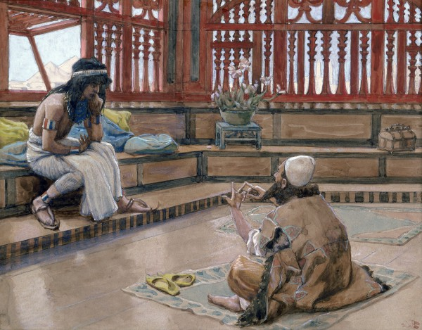 Joseph Converses With Judah-James Tissot